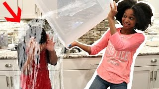 EXPLODING WATER BOTTLE PRANK WARS! - Bad Baby Shasha and Shiloh Onyx Kids