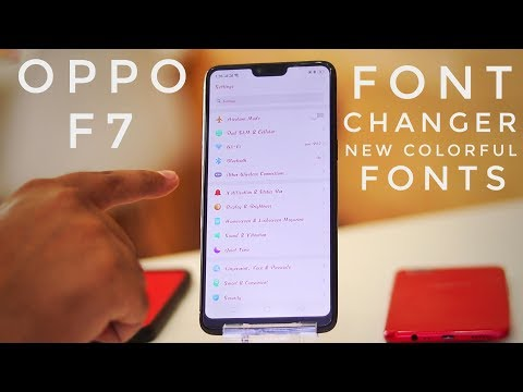 Change Fonts in Oppo F7   Oppo F7 Fonts Changer With Colorful Fonts