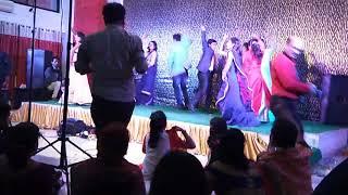 group dance in sister wedding