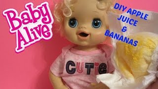 HOW TO MAKE YOUR OWN BABY ALIVE DOLL FOOD AND JUICE!  Made with Baby Powder!
