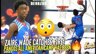 """""""Young Flash"""" Zaire Wade CATCHES FIRE at Pangos All American Camp!!! + Dude Gets POSTERIZED BAD!"""