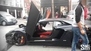 accidente Lamborghini en una calle de Londres