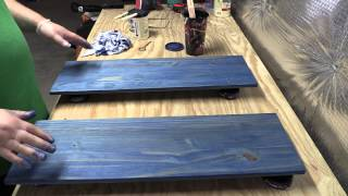 Amateur Wood Finishing 101:  Introduction to Water-Based Staining Wood (Part 2)