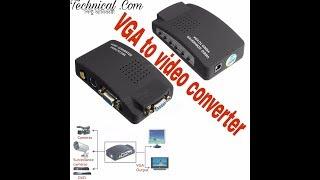 VGA to video converter demo test