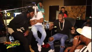 King Los Word Challenge Freestyle InStudio w/ Loaded Lux,Daylyt,Hollow Da Don,& Brother Polight