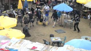 Captain America vs Crossbones on set of Civil War