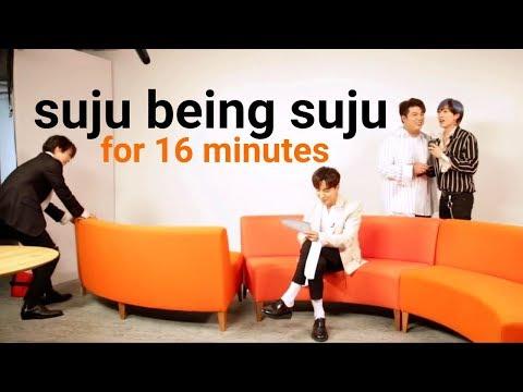 suju being suju for 16 minutes a loud super junior compilation