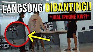 PRANK JUAL iPHONE KW KE APPLE STORE!! DIBANTING SAMPE ANCUR JON!!