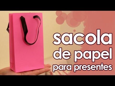 Sacola de papel para presentes especial de Natal artesanato origami