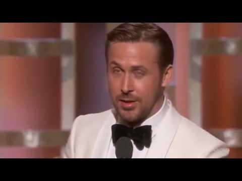 Ryan Gosling Touching Acceptance Speech Golden Globes 2017 HD