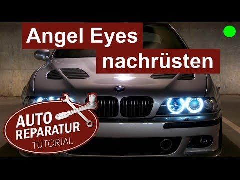 angel eyes nachrüsten   bmw e39 facelift scheinwerfer einbauen   diy