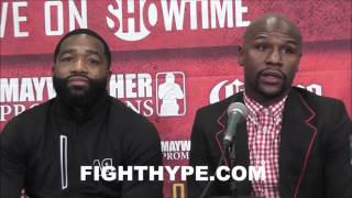 "FLOYD MAYWEATHER AND ADRIEN BRONER DISCUSS WORKING TOGETHER FOR NEXT FIGHT AND BEYOND: ""EXCITEMENT"""