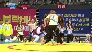 【TVPP】 Ha young(Apink) - Korean wrestling Finals, 에이핑크 - 여자 씨름 결승전 @ 2015 Idol Star Championships
