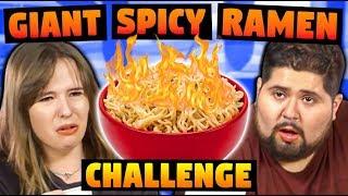 GIANT SPICY RAMEN CHALLENGE!