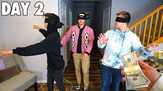 Last To TAKE OFF BLINDFOLD Wins $10,000 (Blindfold Challenge)