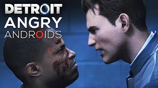 Angry Android Moments (Angry/Rude/Cold Choices Compilation) - DETROIT BECOME HUMAN
