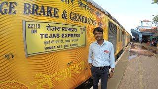 TEJAS EXPRESS Mumbai - Goa. First Day Journey. BEST INTERIORS