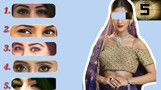 Match The Eyes Of Top Starplus Actresses || Interesting Puzzle ||How Many Can You Guess?