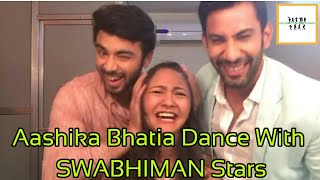 😍Aashika Bhatia😘 Hot Dance with🔥Swabhiman 🔥Star Cast  Masti in Swabhiman Sets