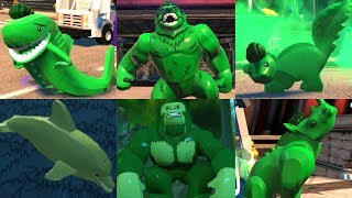 All Beast Boy Animal Transformations in Lego videogames!
