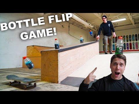 BOTTLE FLIP TRICK SHOT H.O.R.S.E. vs Ryan Bracken