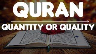 Quran in Ramadan   Quantity or Quality   Mufti Menk