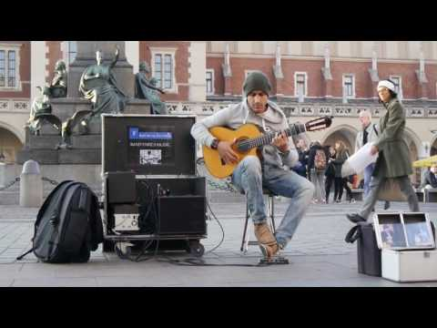 "Amazing street guitar performance by Imad Fares "" Gipsy Kings "" cover"