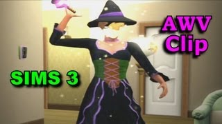 Sims 3 AWV Clip: Witch Transforms Into a Pretty Woman - from A Witch's Vengeance Part 2