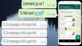 Comment lire un message supprimer sur Whatsapp