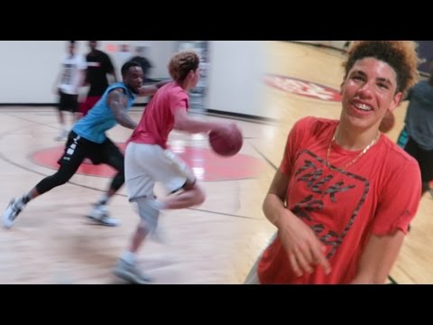 DEFENDING LAMELO BALL IN REAL LIFE BASKETBALL 5 v 5 Chino Hill Players