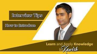 How to introduce yourself?,interview tips in hindi/urdu