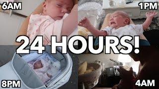 24 HOURS WITH A NEWBORN!!    Casey Barker Vlogs