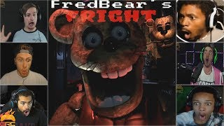 Gamers Reactions to the First Jumpscare | FredBear's Fright