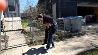 7yr old carries 155 lb mom :)
