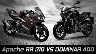 Apache RR 310 vs Bajaj Dominar 400 [Looks-Battle] ✔