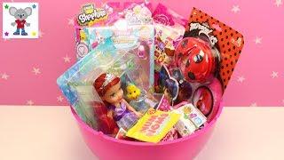 HUEVO SORPRESA GIGANTE con Juguetes Sorpresa de Ladybug Frozen Shopkins Num Noms Princesas Disney