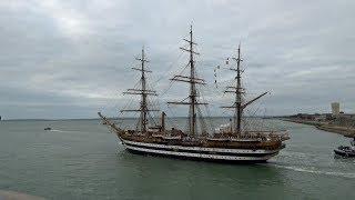 🇮🇹 Italian Navy Tall Ship Amerigo Vespucci Leaving Portsmouth UK