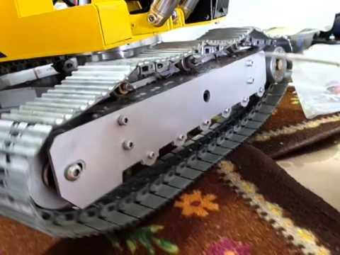 Rc excavator track tention testing
