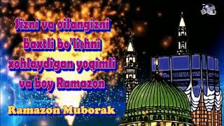 Uzbek Language Ramadan  Mubarak  Ramazan  Mubarak greetings Whatsapp download