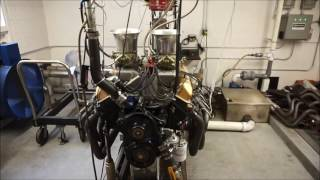 Ford 427 FE 505 CID with cross ram and magneto on dyno