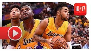 D'Angelo Russell & Julius Randle Full PS Highlights vs Suns (2016.10.21) - 32 Pts, 15 Reb Total