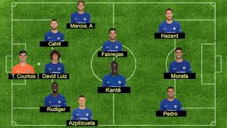 Predicted Lineup   Chelsea Vs Man united 5 11 2017via torchbrowser com