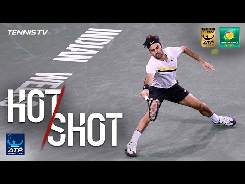 Xxx Mp4 Hot Shot Federer Nails Running Lob In Indian Wells QF 2018 3gp Sex