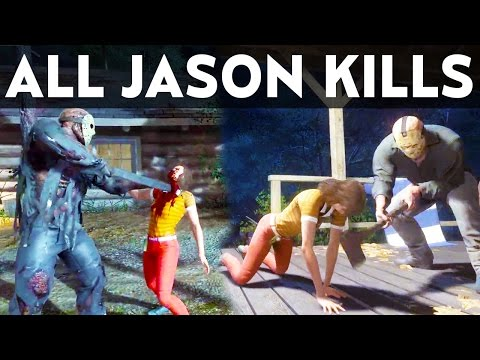 FRIDAY THE 13TH GAME ALL JASON VOORHEES KILLS Counselor Deaths Compilation Gameplay