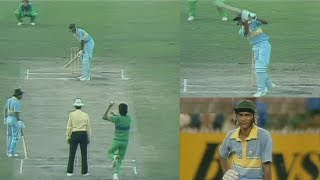 Young Azharuddin vs Mighty Pakistan Bowling | Azhar's Brave Match Winning 93 in a Tough Run Chase