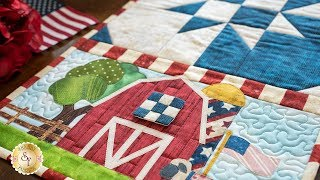 Easy Pieced Table Runner Series - July   a Shabby Fabrics Tutorial