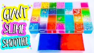 Mixing All My Clear Slimes Together! GIANT SLIME SMOOTHIE! RELAXING SLIME!