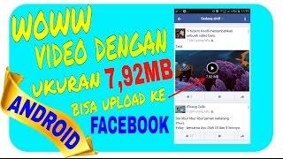 Cara mengunggah video ke facebook