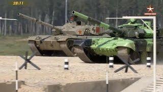 Tank Biathlon Iran T-72B3 Vs China Type96B