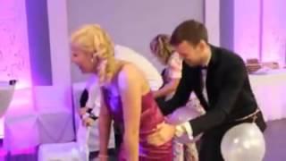 rus düğününde balon patlatma yarışması +18